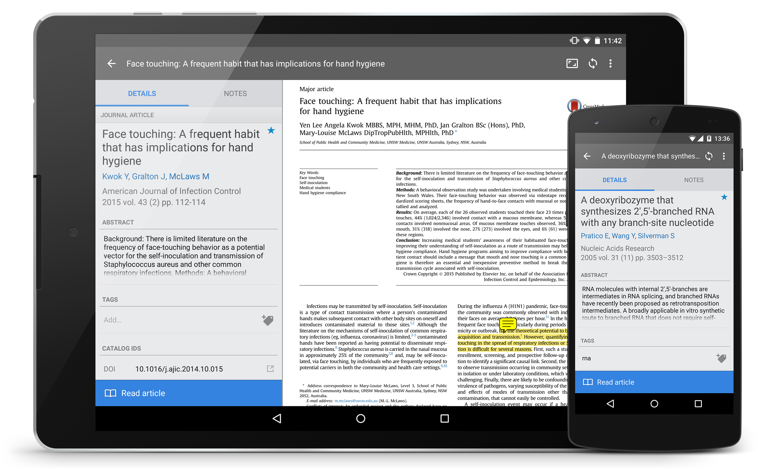 Getting started with Mendeley for Android | Mendeley
