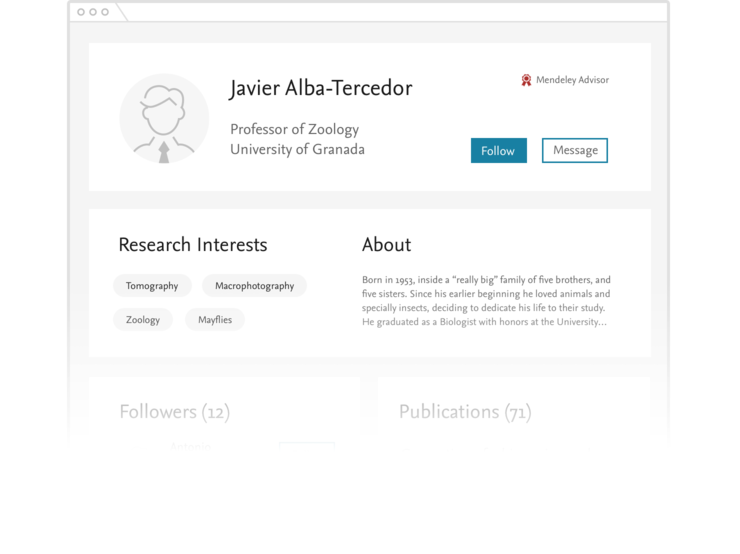 Connect & Network with Researchers Worldwide - Mendeley