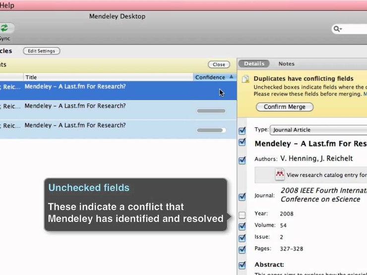 how to delete duplicates in mendeley